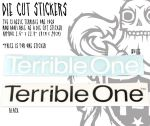 Sticker Terrible One die cut